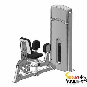 Грузоблочный тренажер для отводящих мышц бедра (разведение ног)  - 1483
