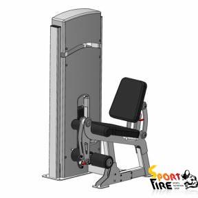 Грузоблочный тренажер для мышц разгибателей бедра, положение сидя - 1477