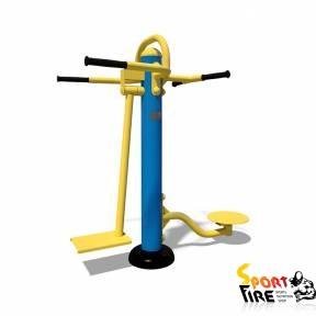 Тренажёр для ягодичных, приводящих и отводящих мышц бедра - Твистер S 104.1 - 2058