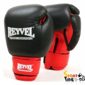 REYVEL Перчатки боксерские общего назначения (кожа+винил) 12 oz - 973