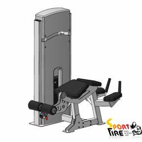 Грузоблочный тренажер для мышц сгибателей бедра, положение лежа. - 1476