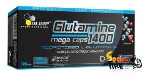 Glutamine 1400 mega caps 120 caps - 1003